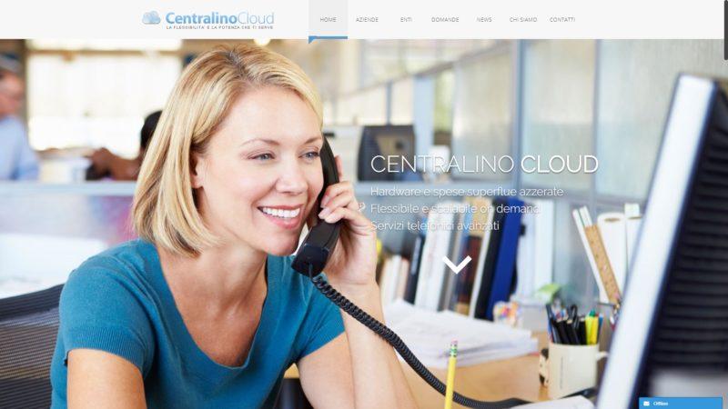 Sito realizzato per Centralino Cloud