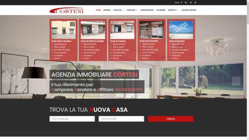 Sito realizzato per Immobiliare Cortesi Umbria