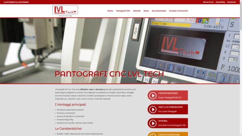 Sito realizzato per Pantografi CNC LVL Tech